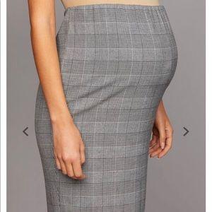 Maternity office pencil skirt